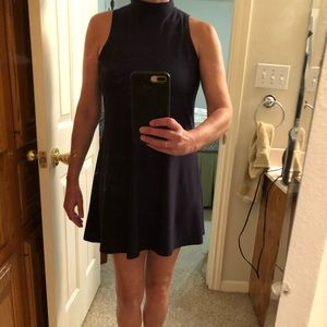 Navy turtle neck mini-dress or tunic